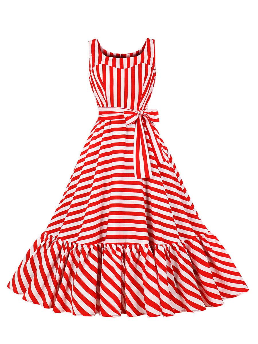 Сукня червона в смужку | 5154172