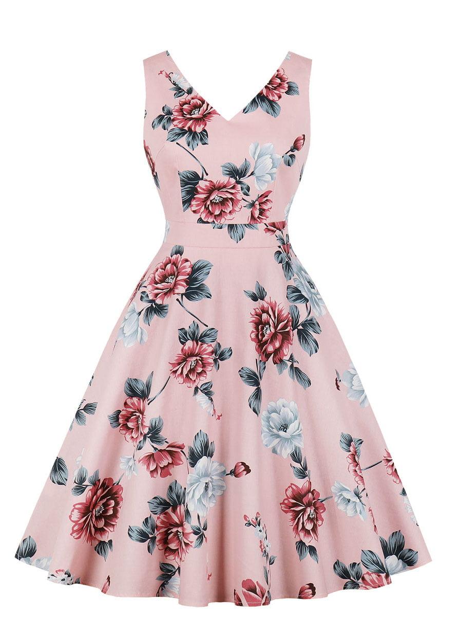 Сукня рожева в квітковий принт | 5154174