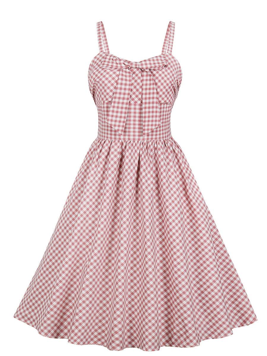 Сукня рожева в клітинку | 5154197