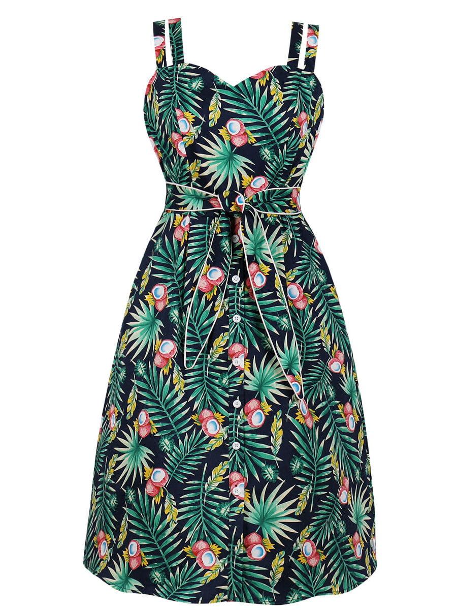 Сукня зелена в принт | 5154200