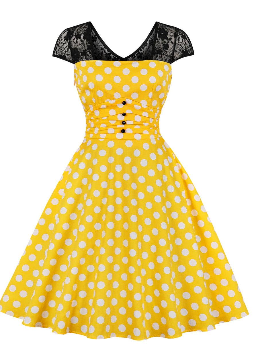 Сукня жовта в горошок   5154208