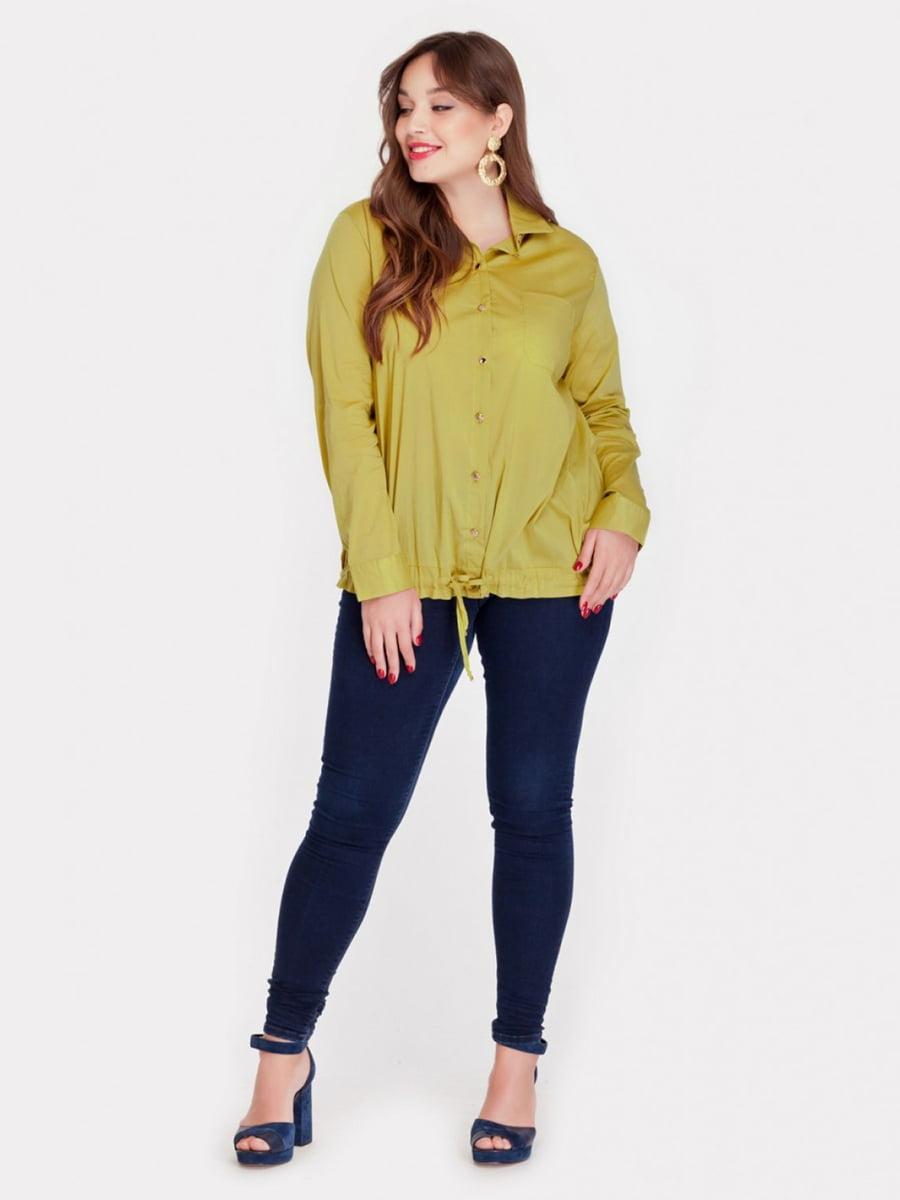 Рубашка горчичного цвета   3747073