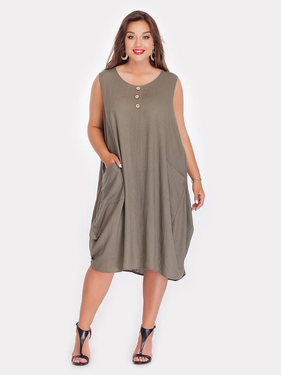Платье цвета хаки   3747091