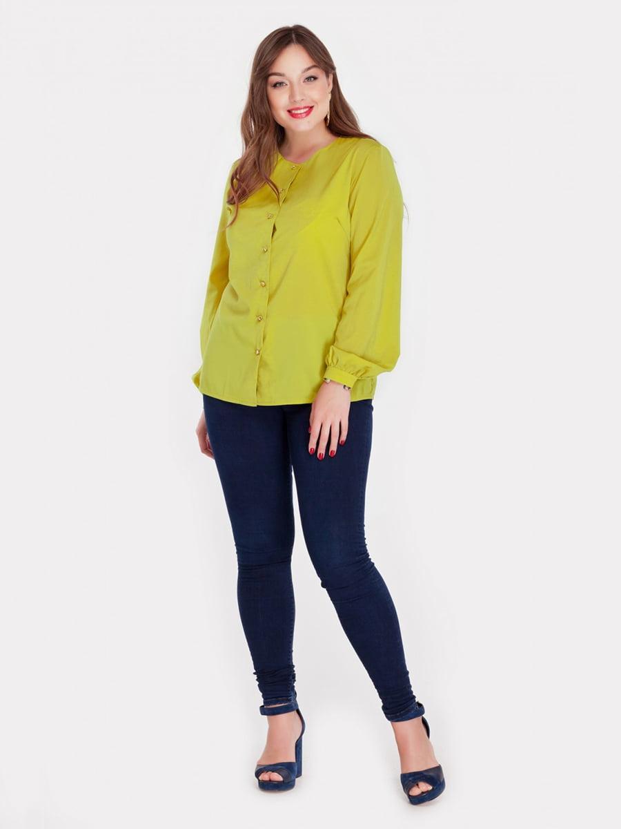 Блуза горчичного цвета | 3747117