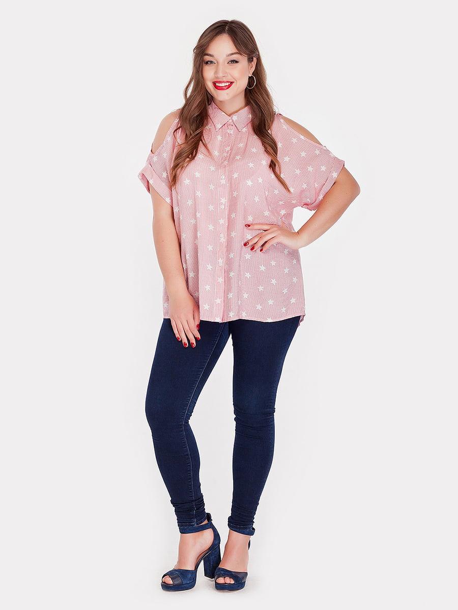 Рубашка в полоску и принт | 3778406