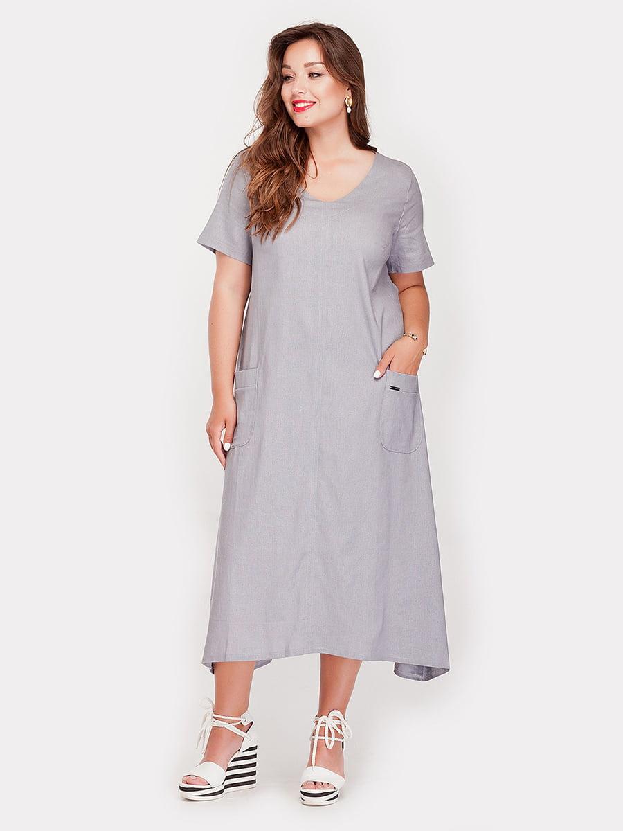 Платье серое   4388695