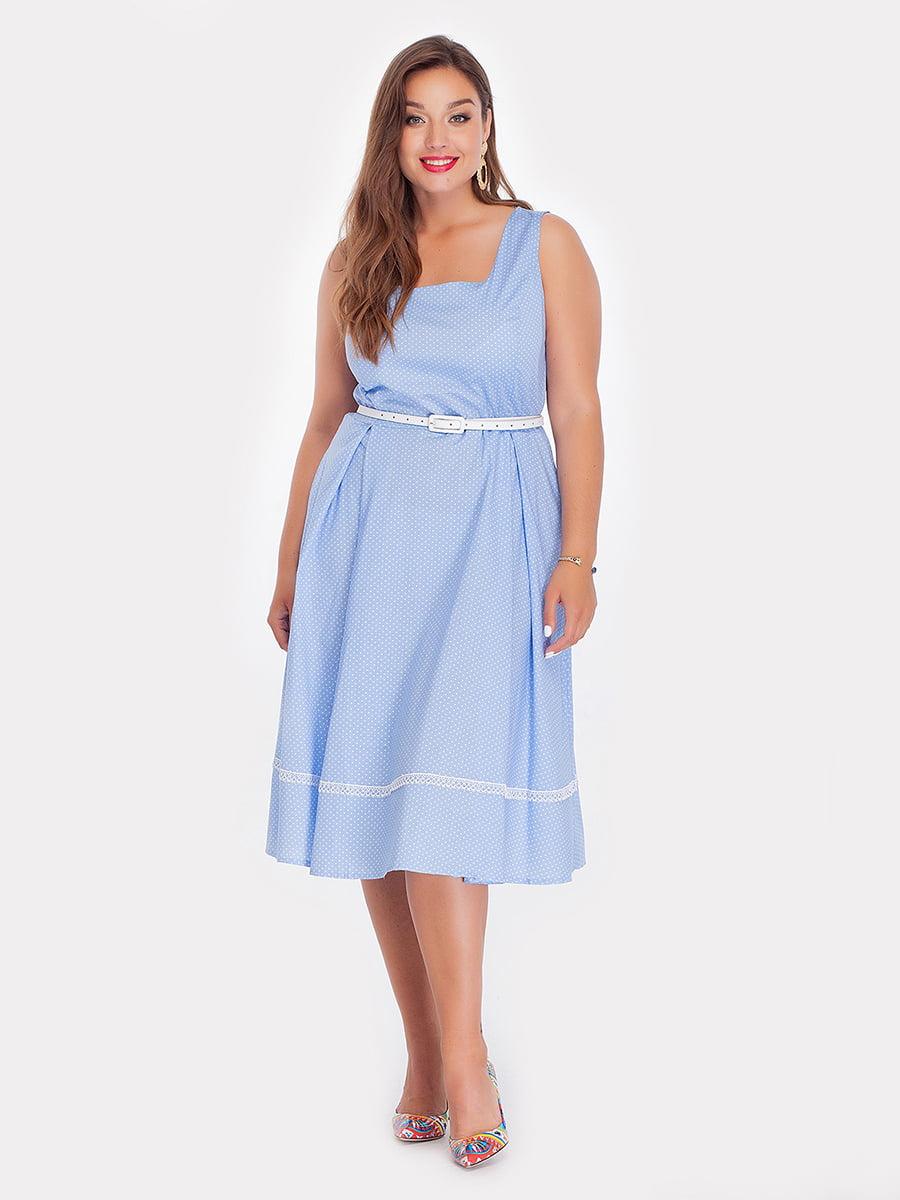 Платье голубое в полоску | 4388704