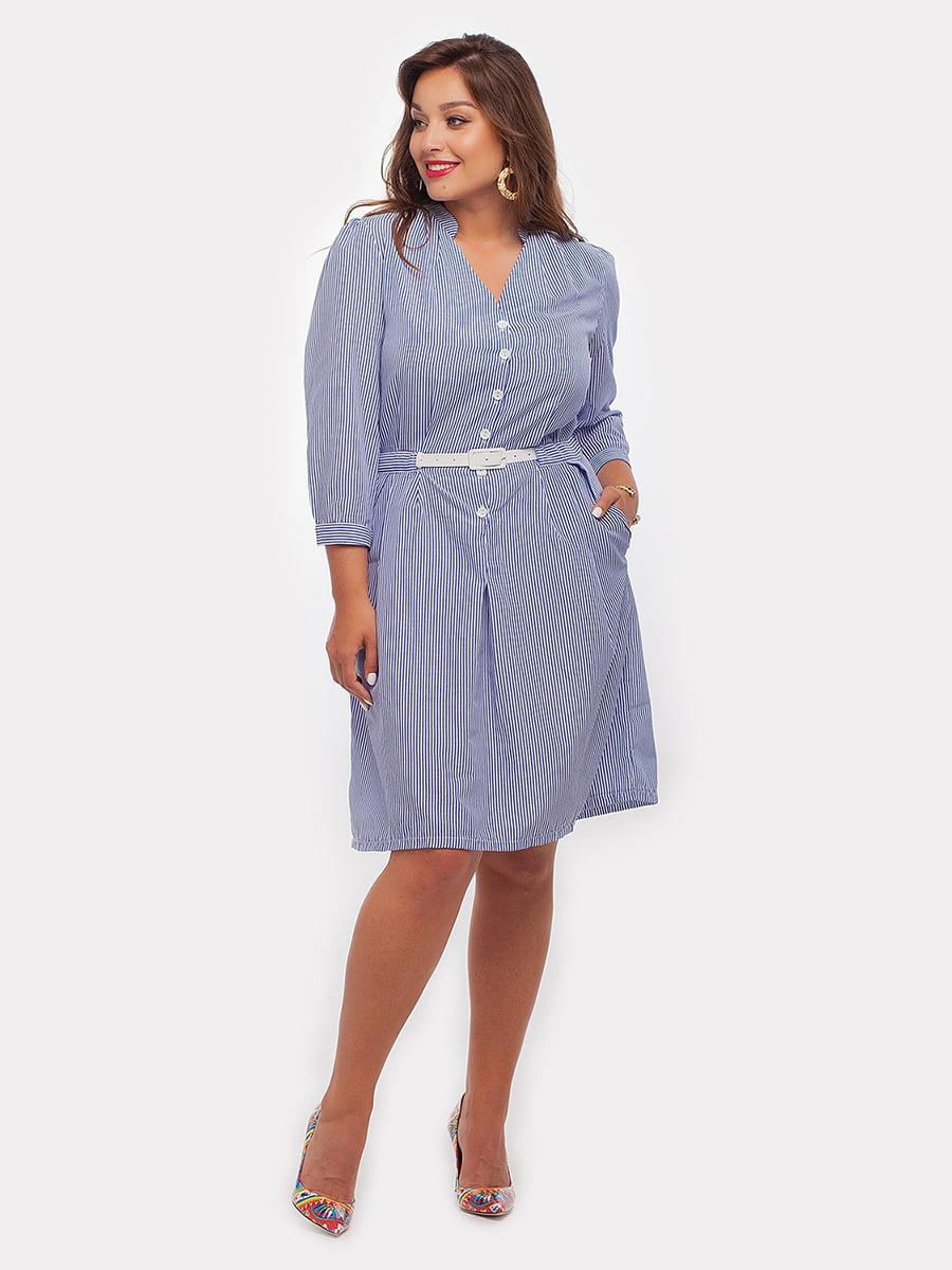 Платье синее в полоску | 4396052