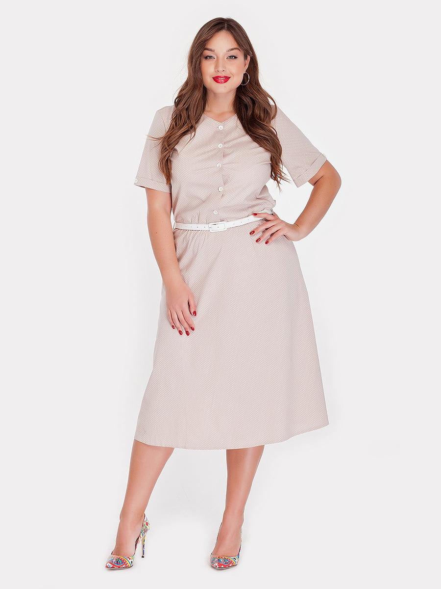 Платье бежевое | 4396055