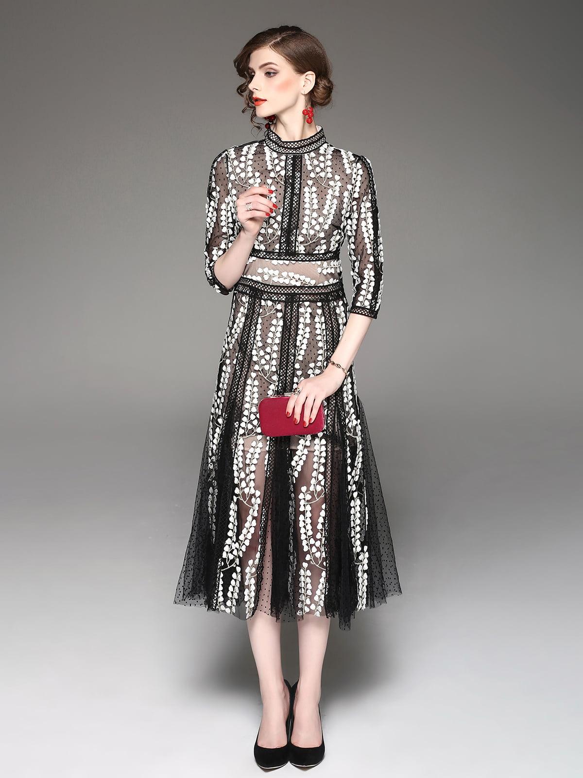 Платье черно-белое | 5155163