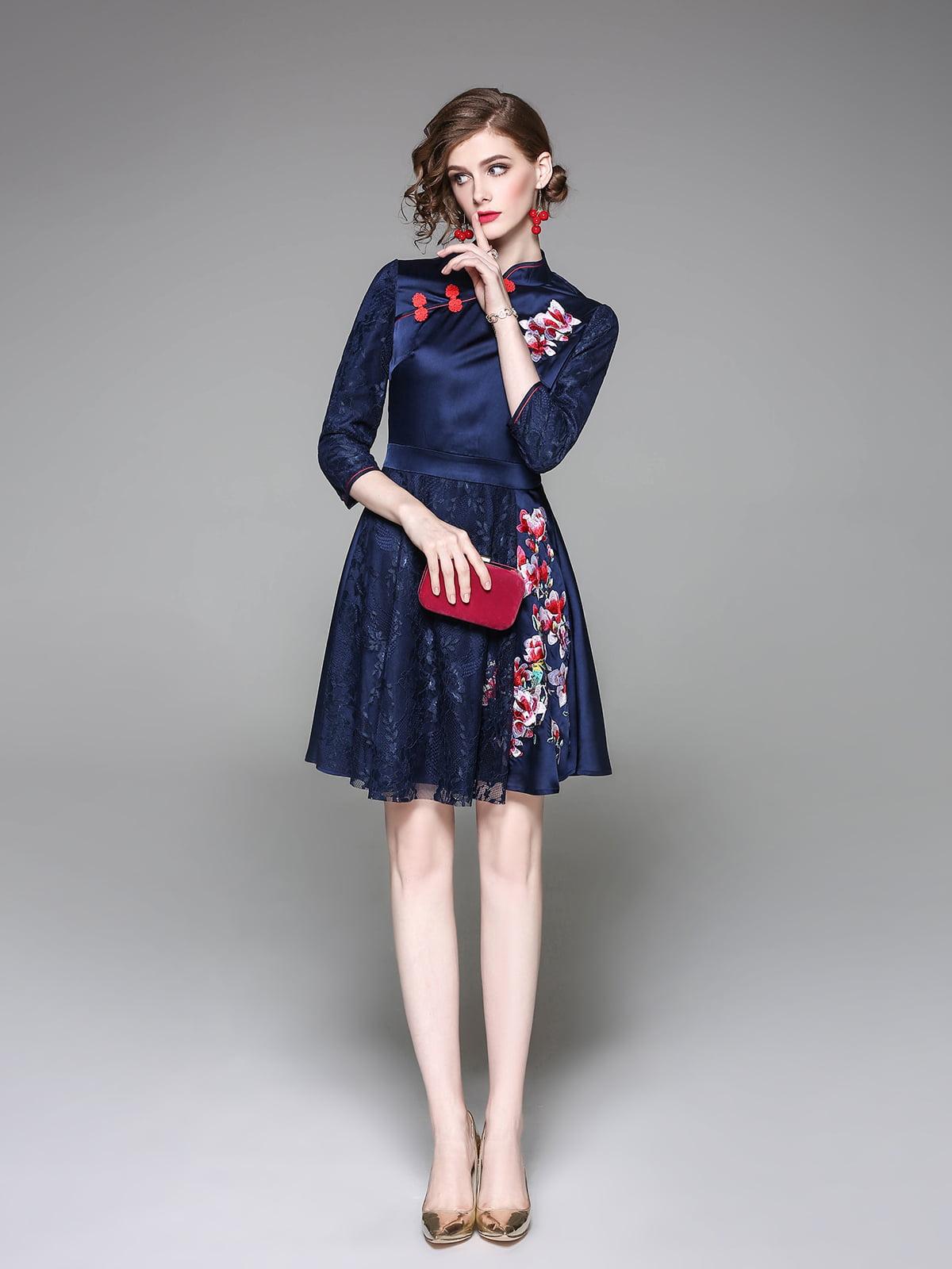 Платье темно-синее | 5155165