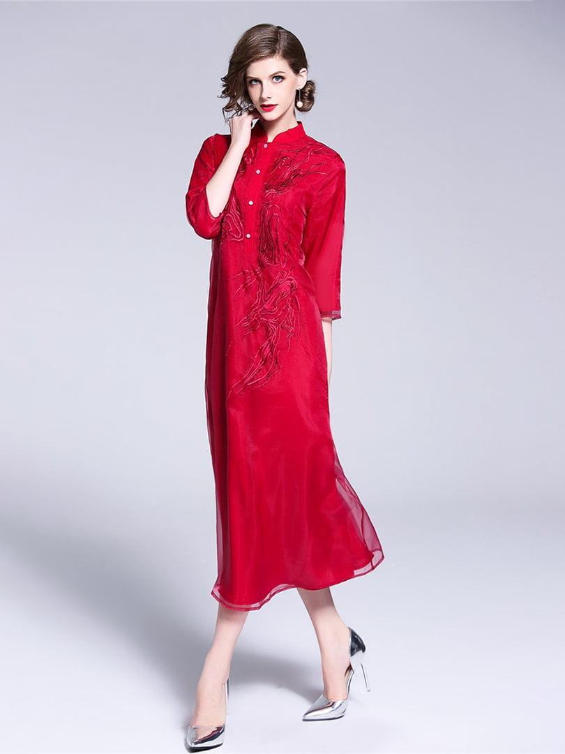 Платье красное | 5155193