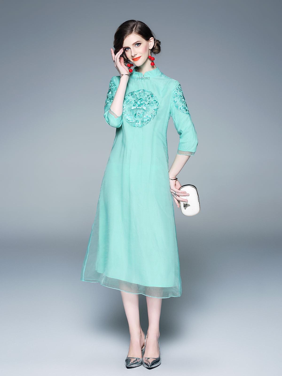 Платье зеленое   5155231