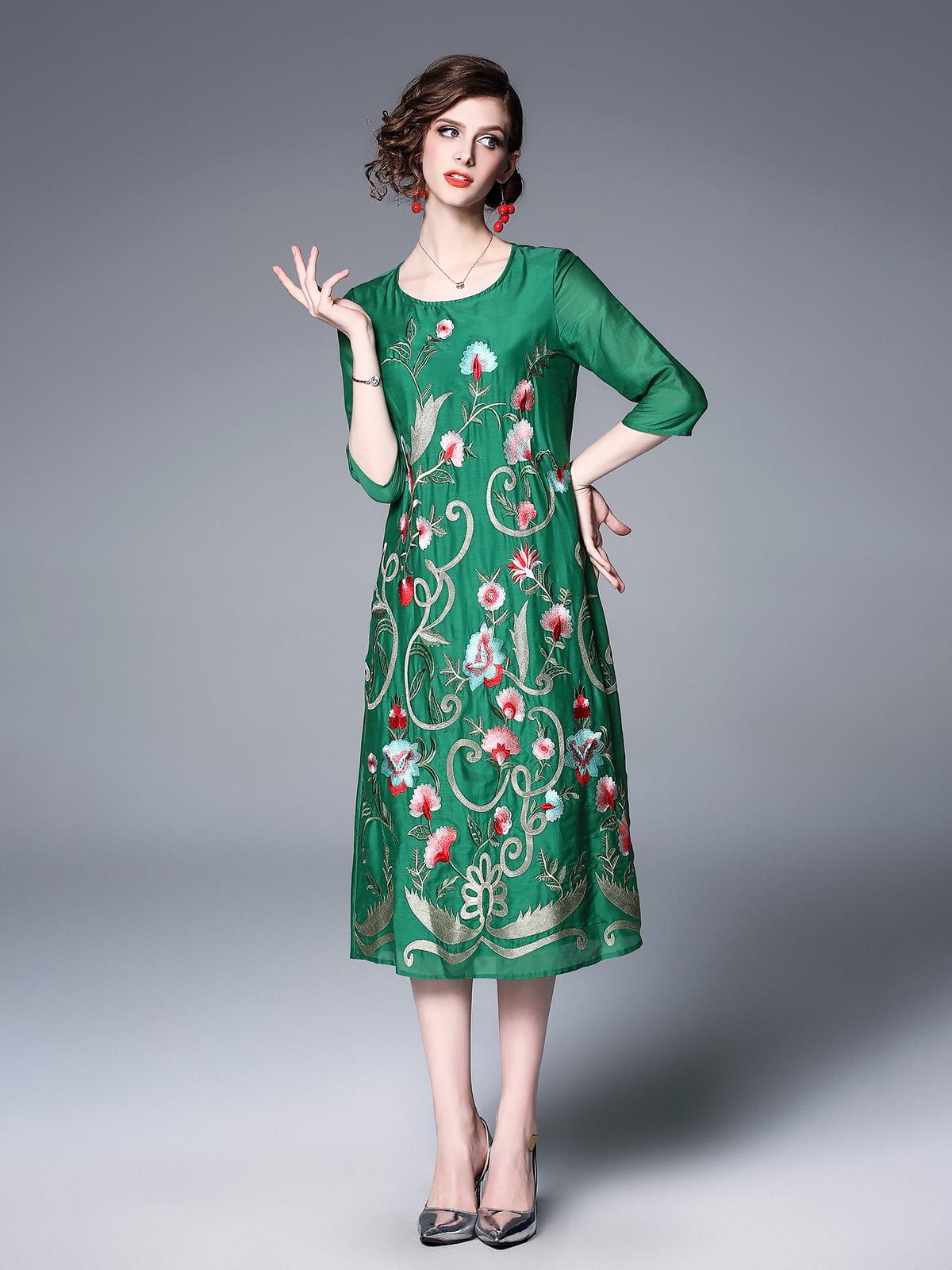 Платье зеленое   5155250