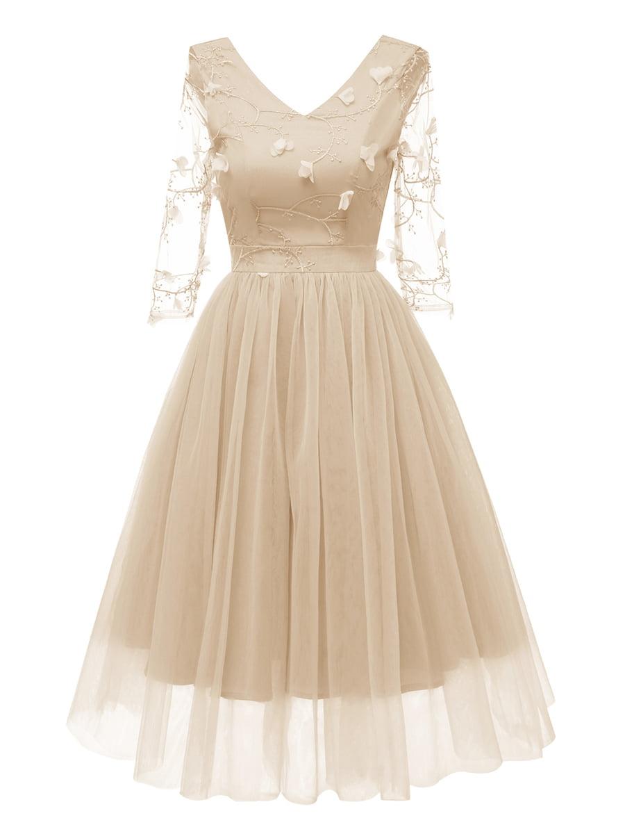 Платье бежевое | 5156180