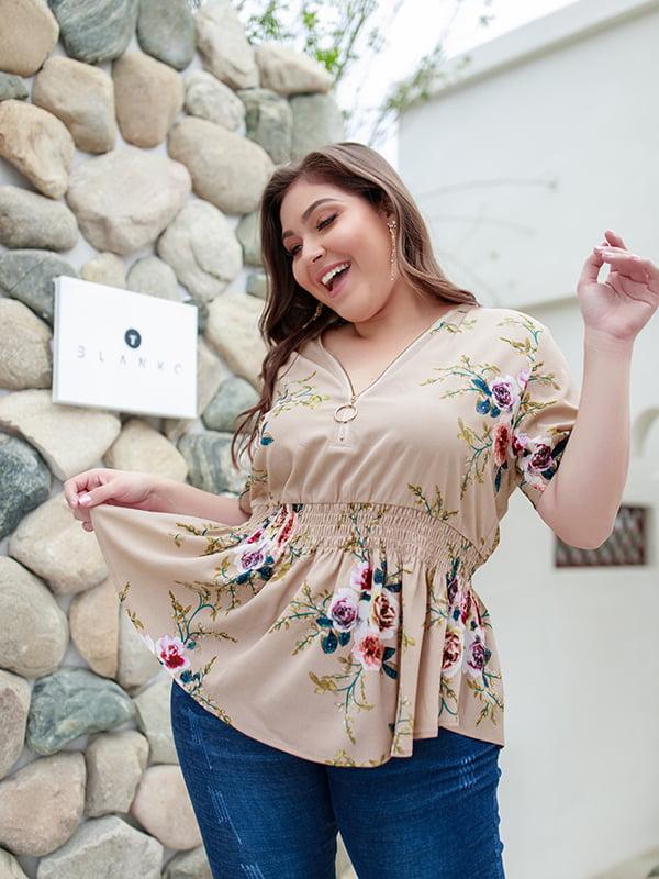 Блуза в квітковий принт | 5157961