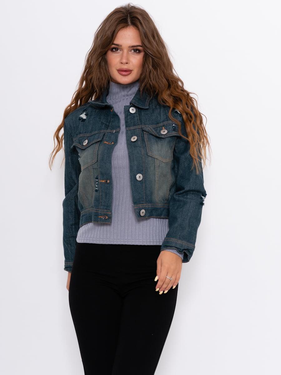 Куртка джинсовая синяя   5162467