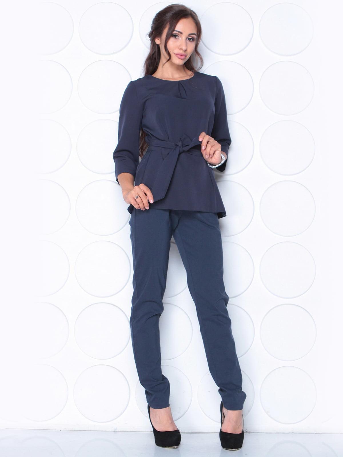 Блуза темно-синя   5163351