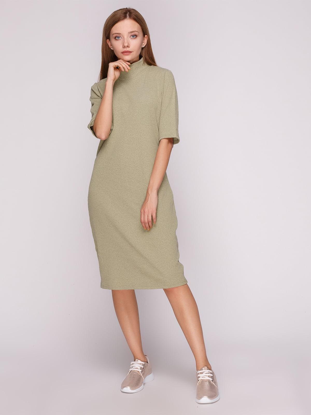 Сукня болотного кольору | 5163592