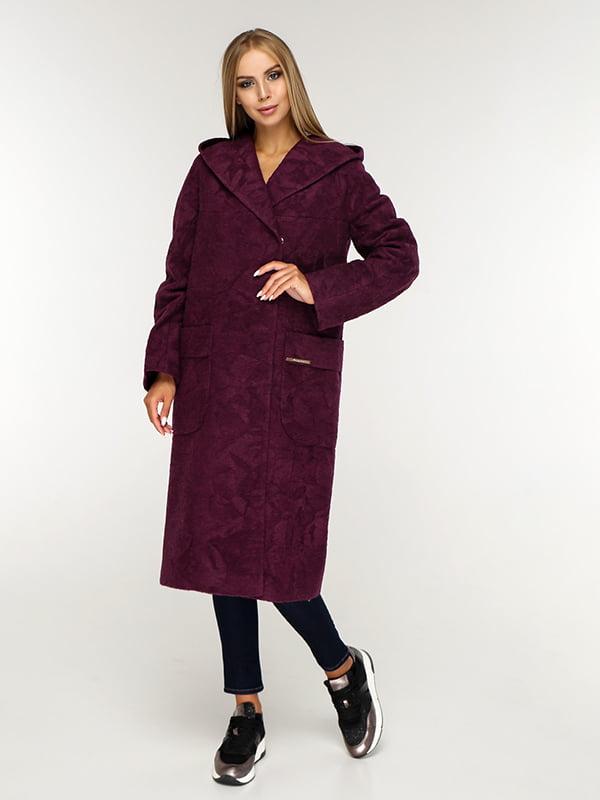 Пальто бордовое | 5165643