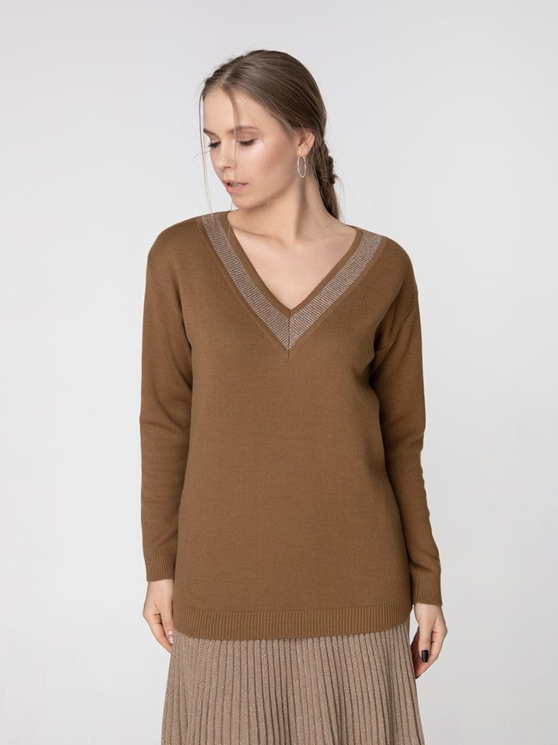 Пуловер кольору хакі | 5166340