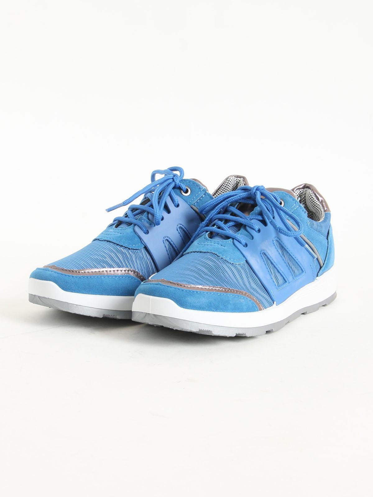 Кроссовки голубые | 5166104