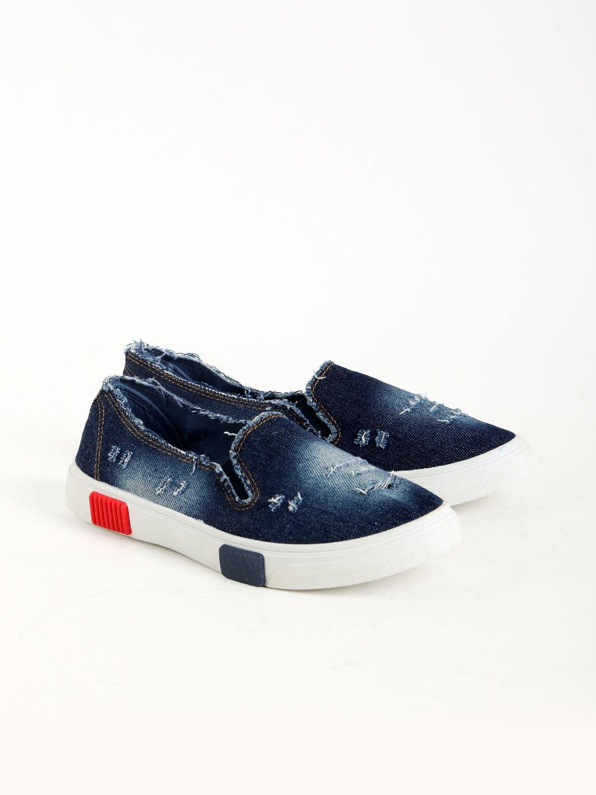 Слипоны синие | 5166224