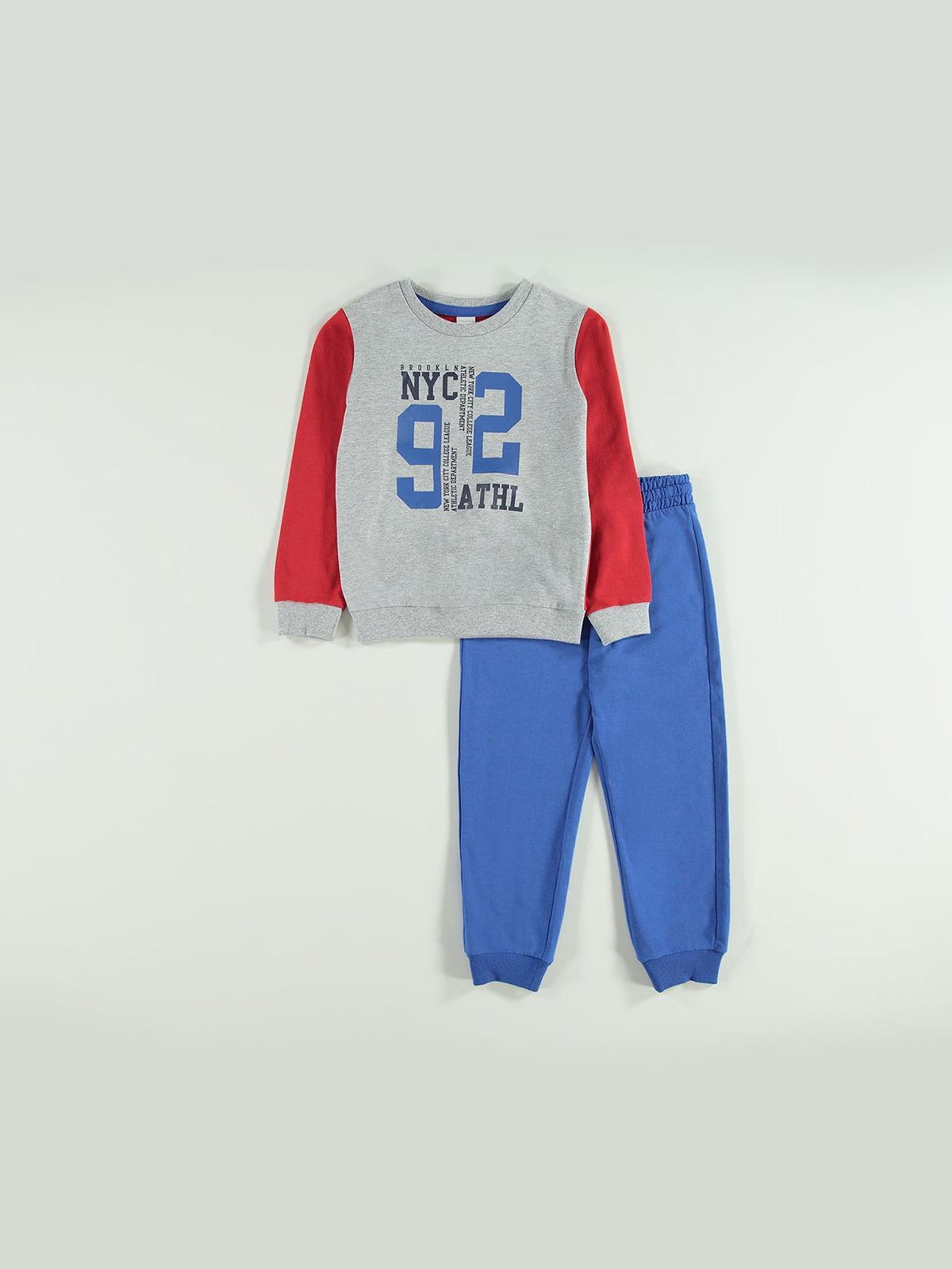 Костюм спортивный: свитшот и брюки | 5154648