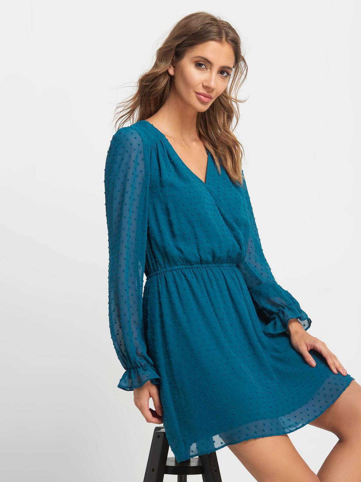 Сукня кольору морської хвилі | 5168542