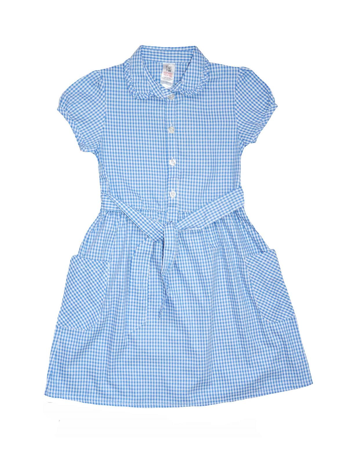 Сукня блакитна в клітинку | 5168605