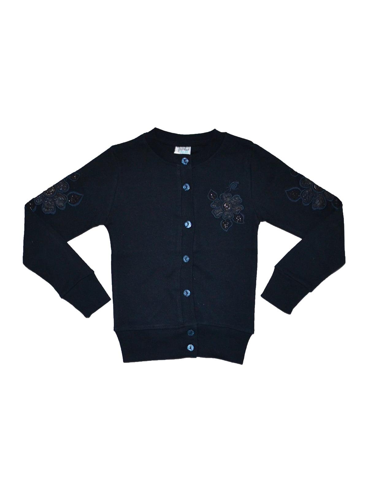 Кофта темно-синя з вишивкою | 5168607