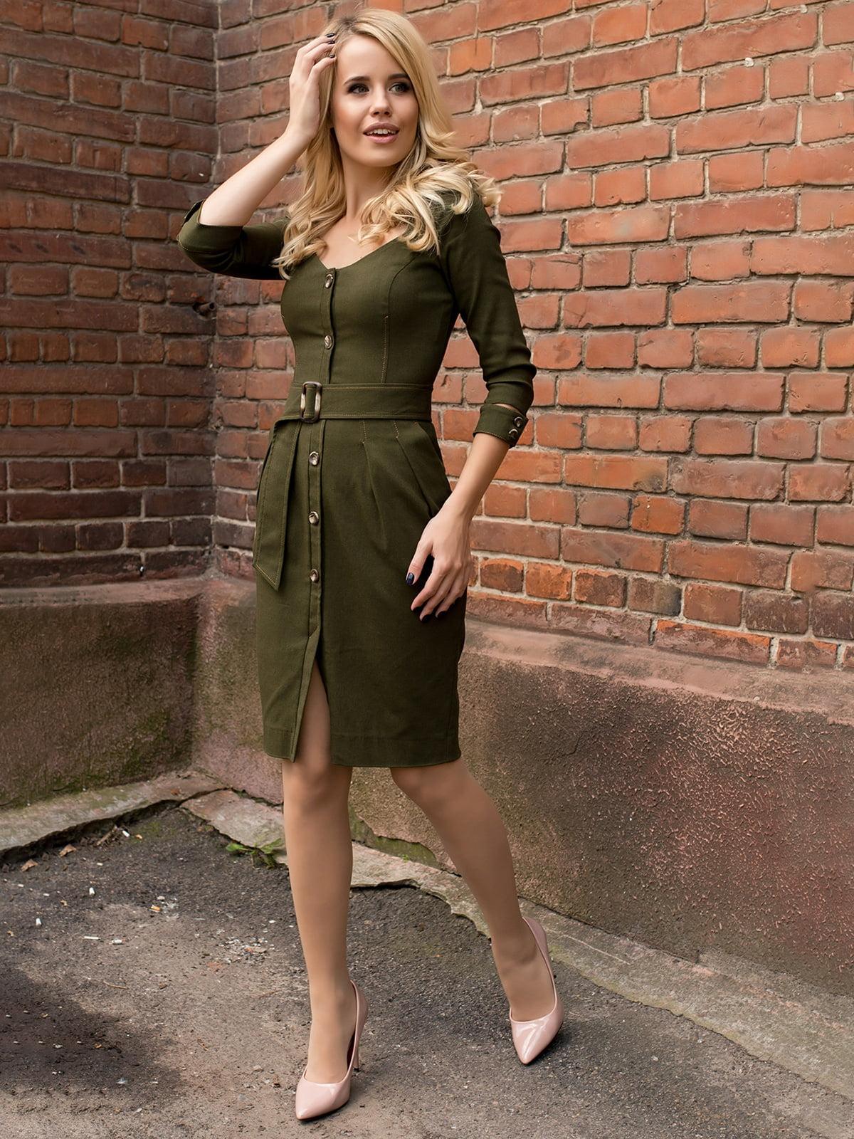 Сукня кольору хакі | 5168597