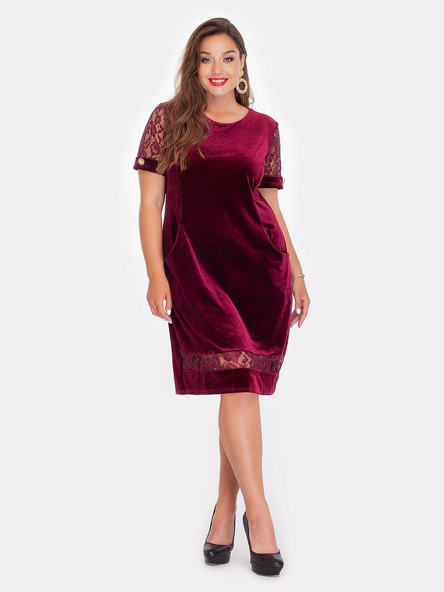 Платье бордовое | 3747029