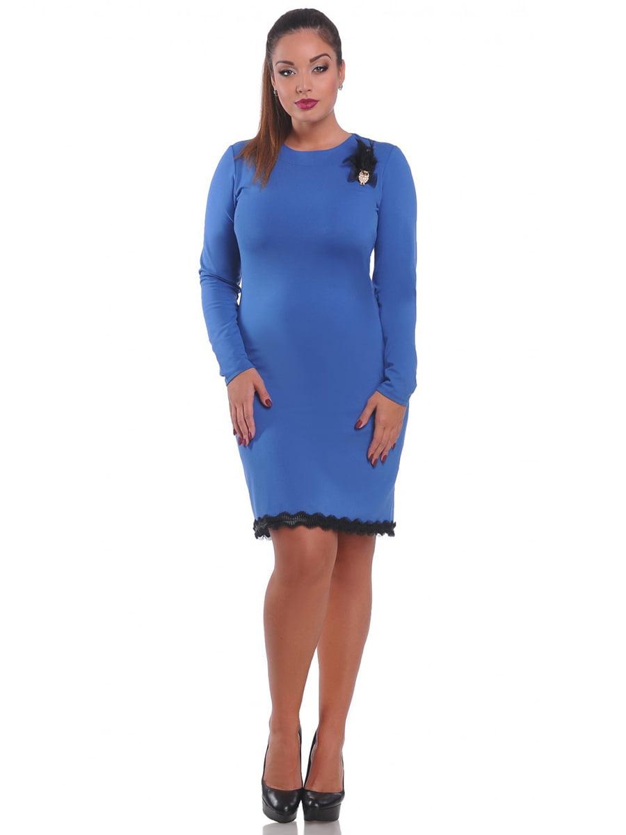 Платье голубое | 3747076