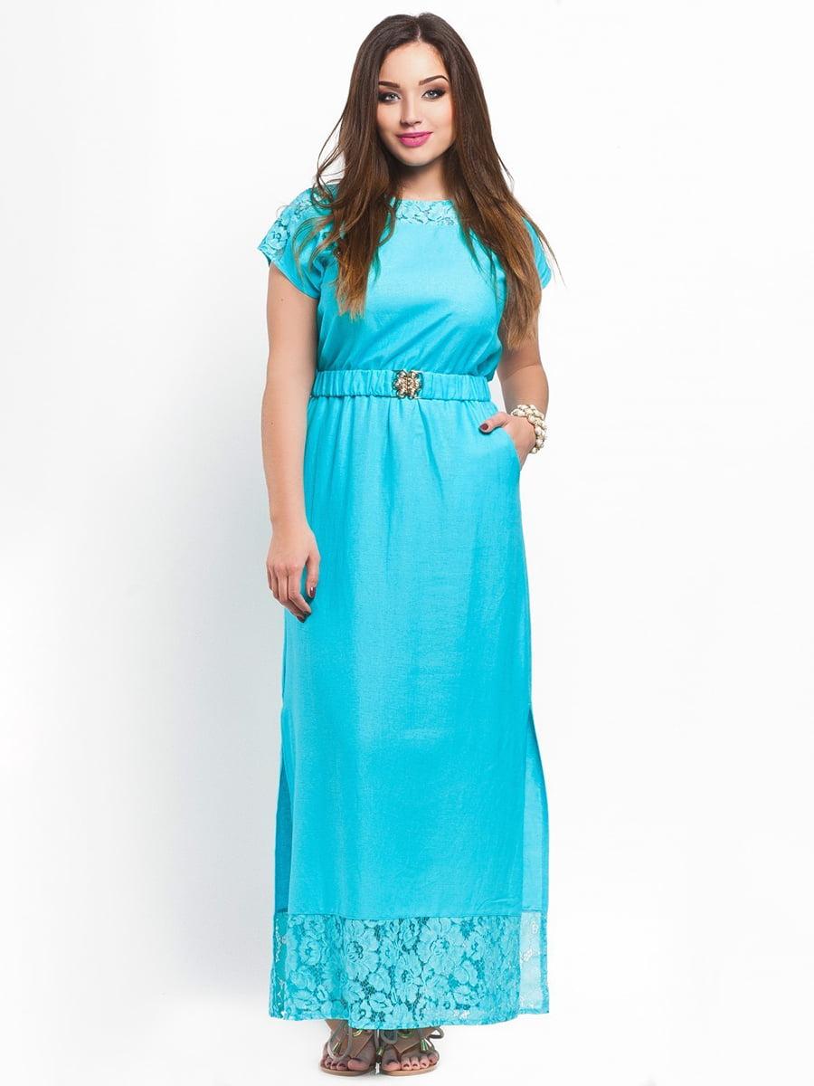 Платье мятного цвета | 3778391