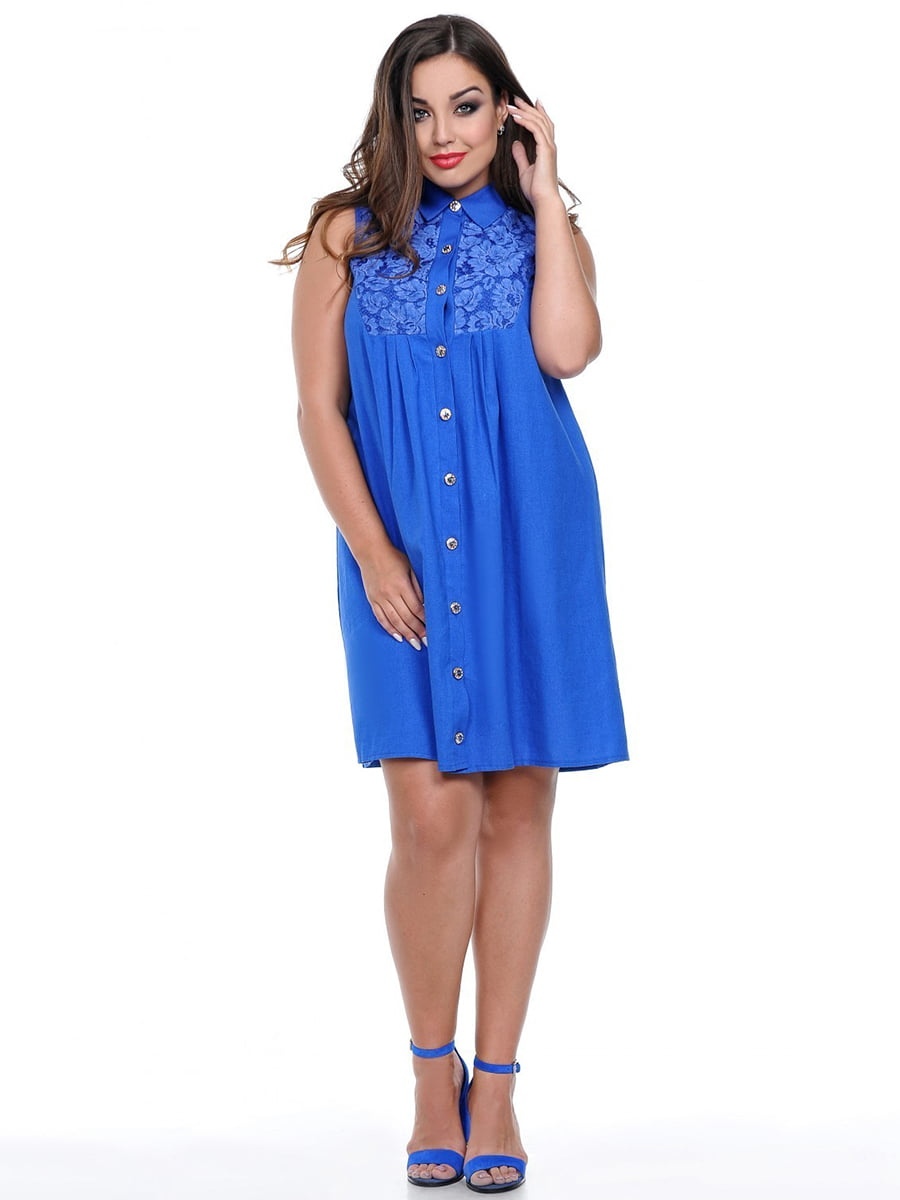 Платье цвета электрик | 3778400