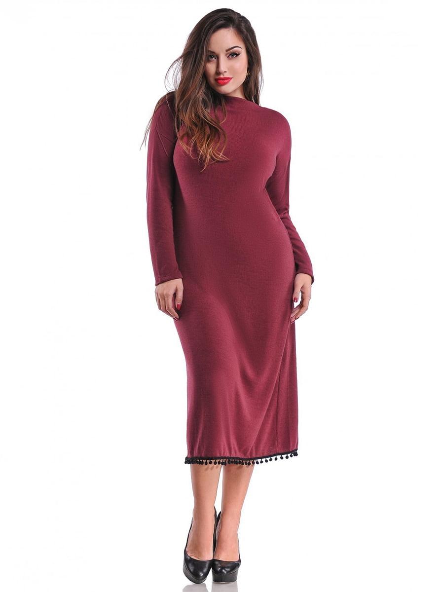 Платье цвета марсала   3906517