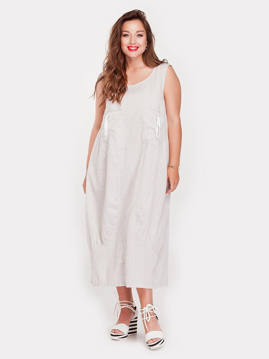 Платье серое в полоску   4345352