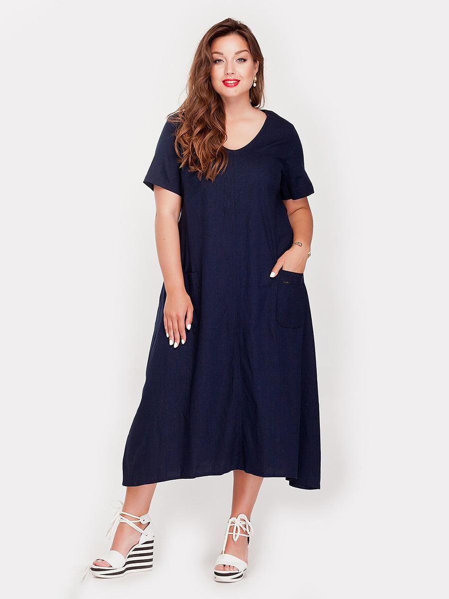 Платье синее | 4388696