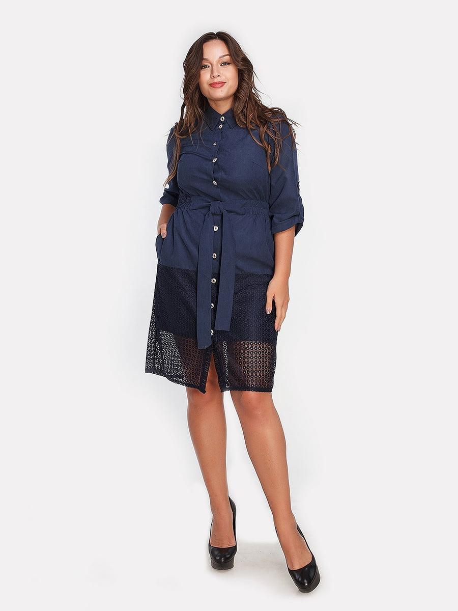 Платье темно-синее | 4590596
