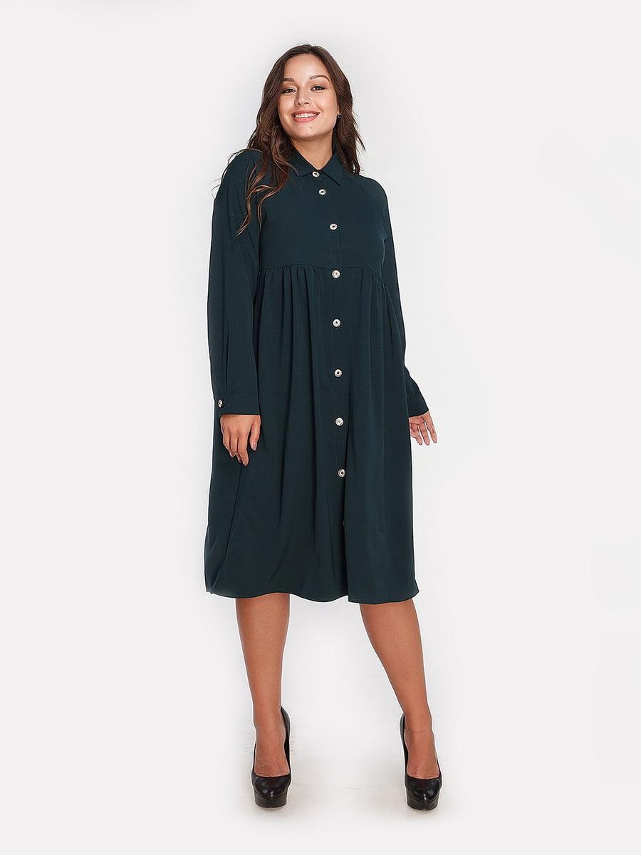 Платье темно-зеленое | 4613328