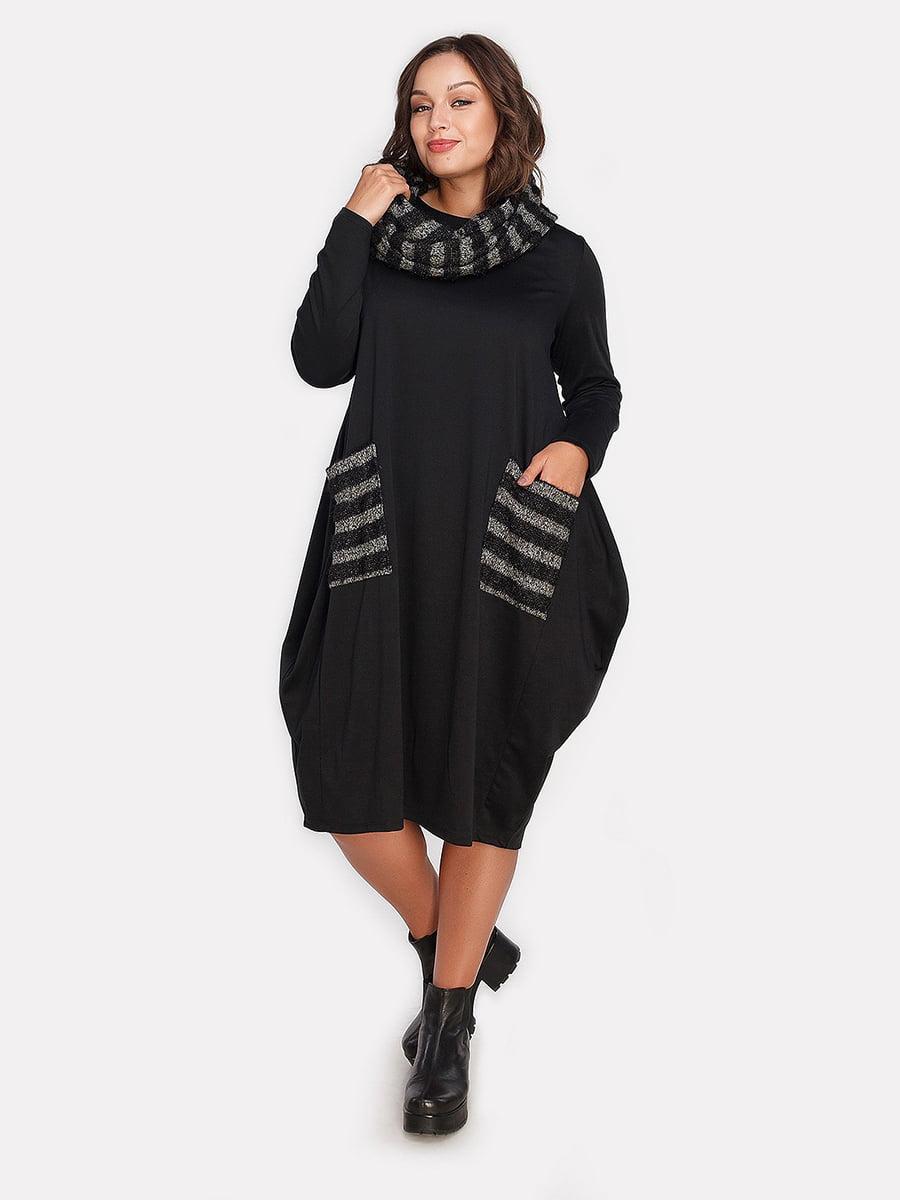 Платье серо-черное | 4613338