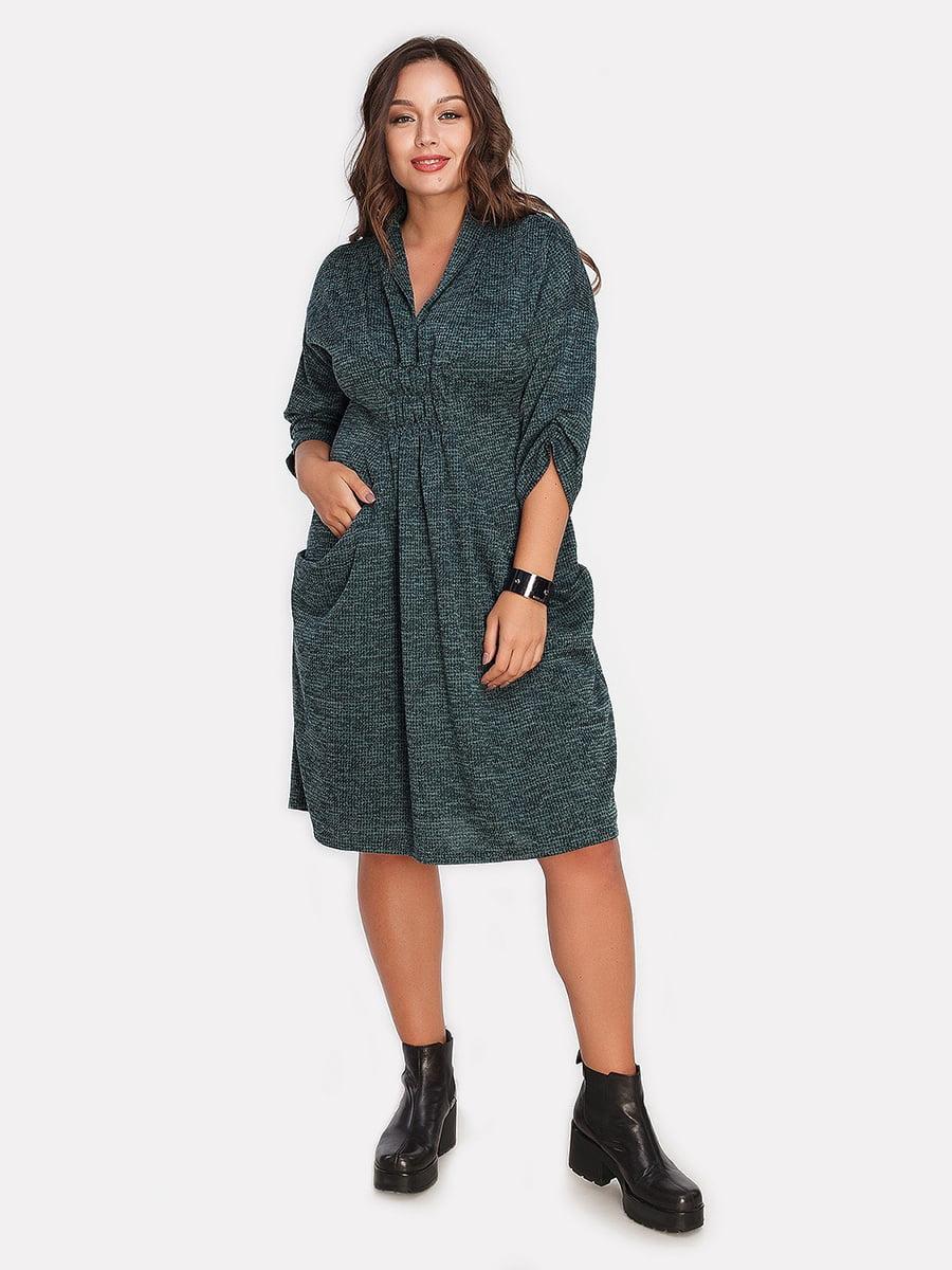Платье темно-зеленое | 4613345