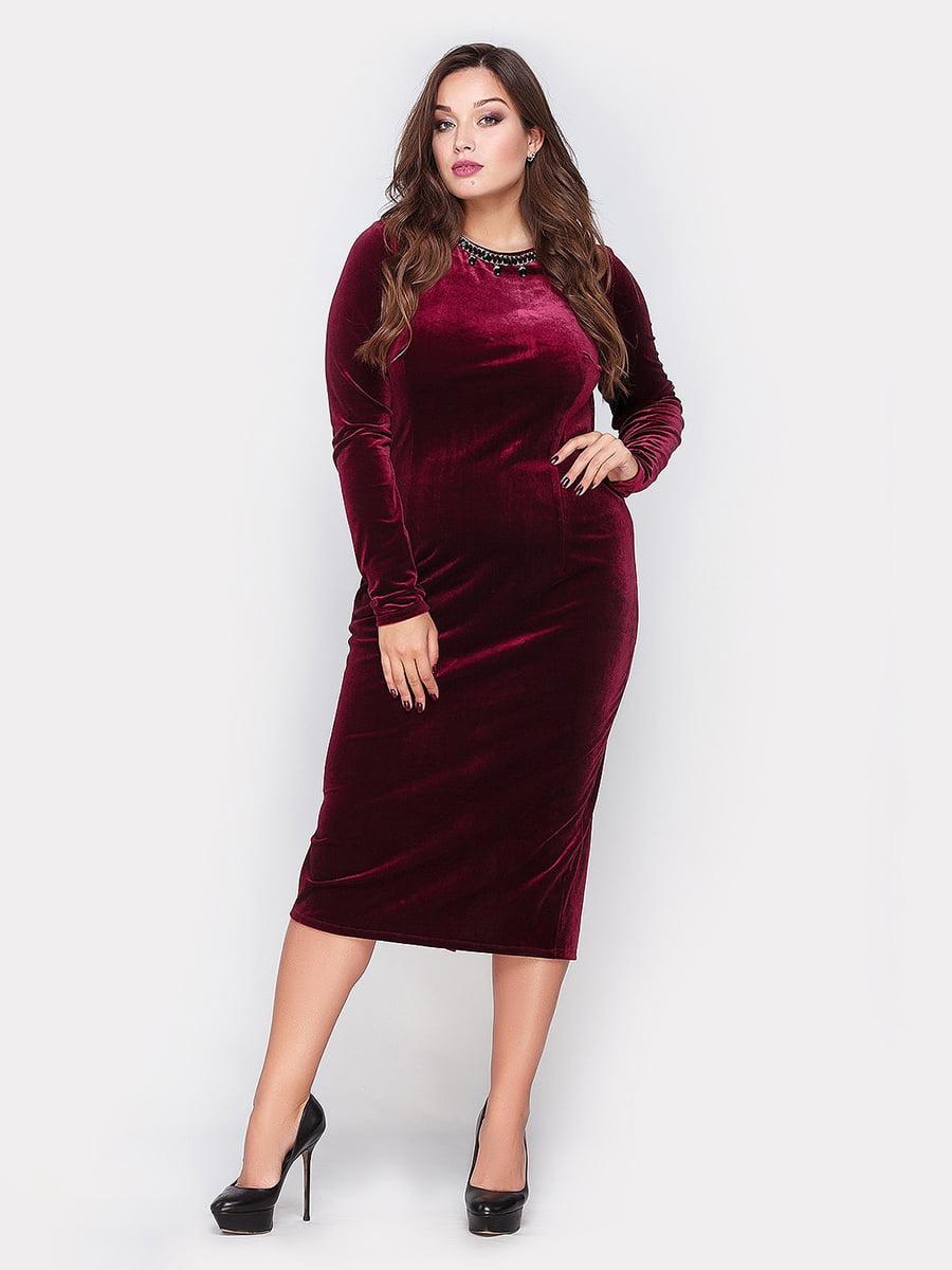 Платье цвета марсала | 4665228