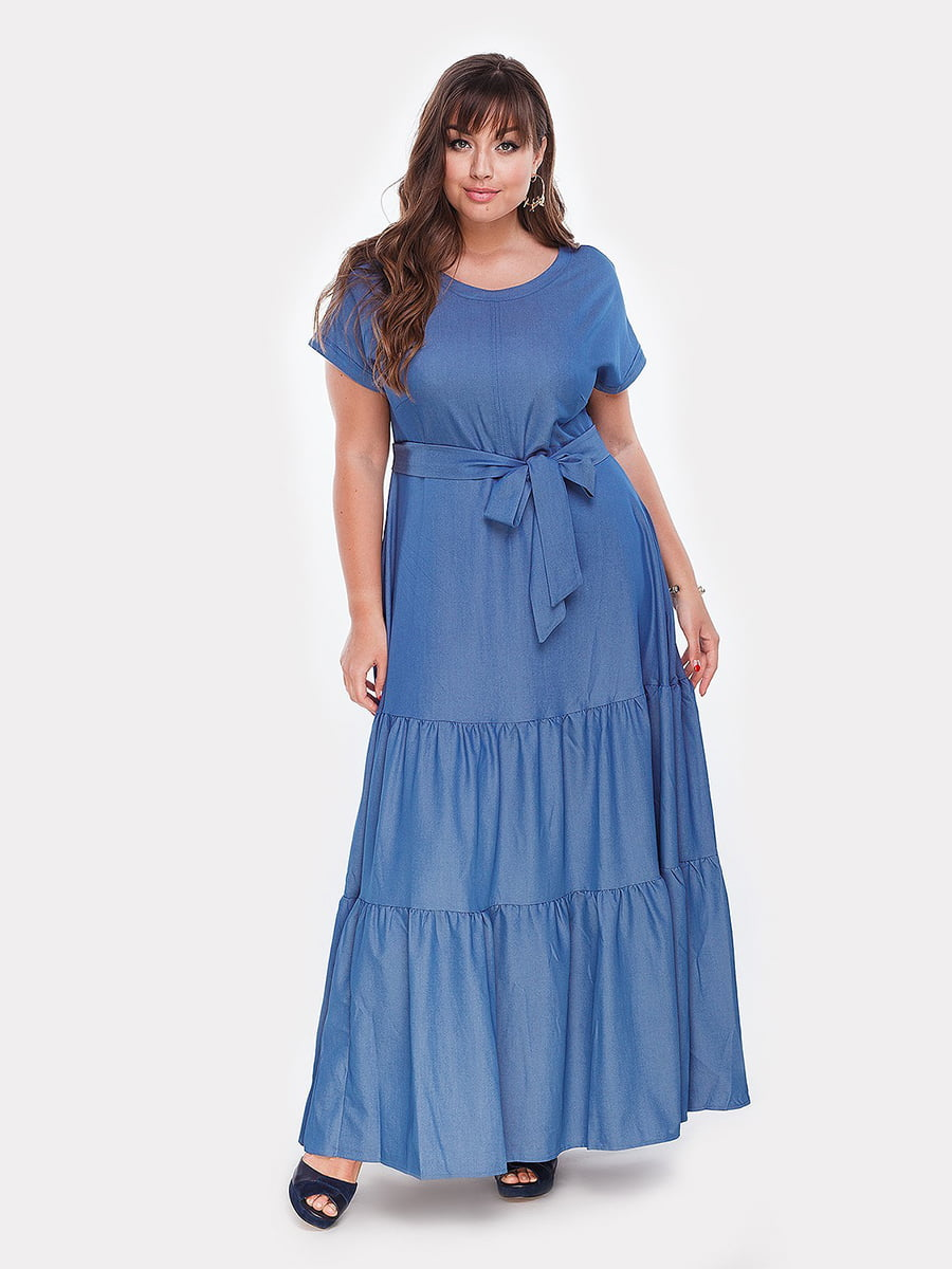 Платье голубое   4977644