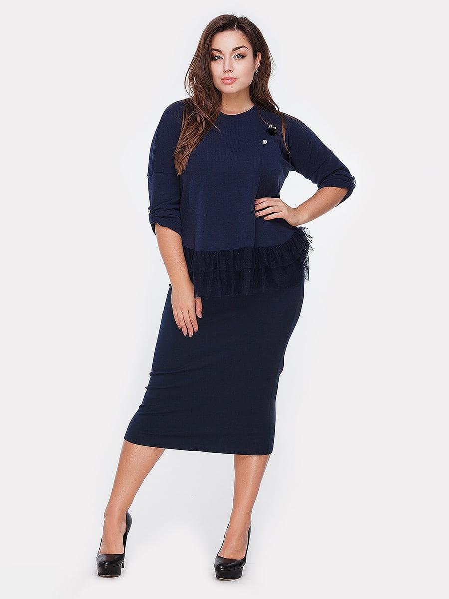 Блуза темно-синяя | 5104972
