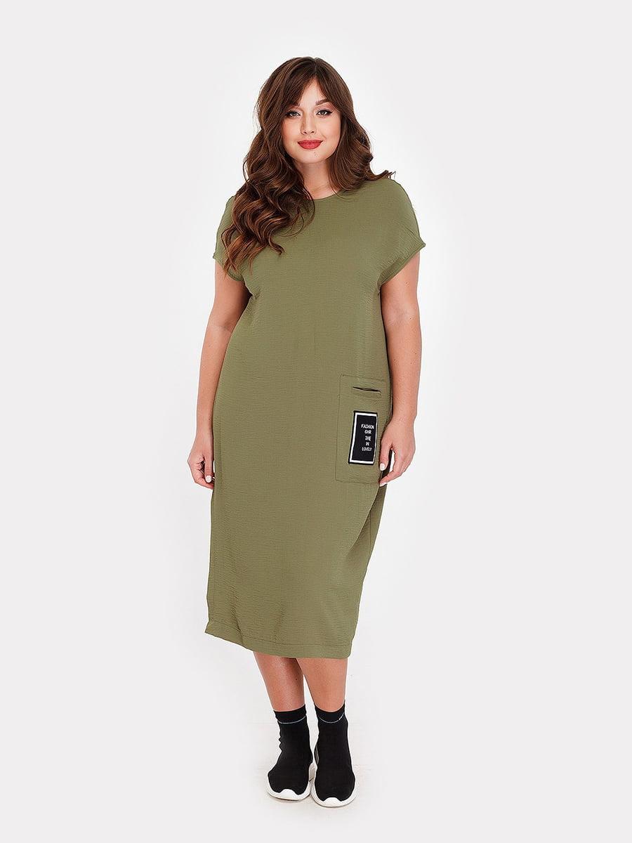 Платье цвета хаки | 5105091