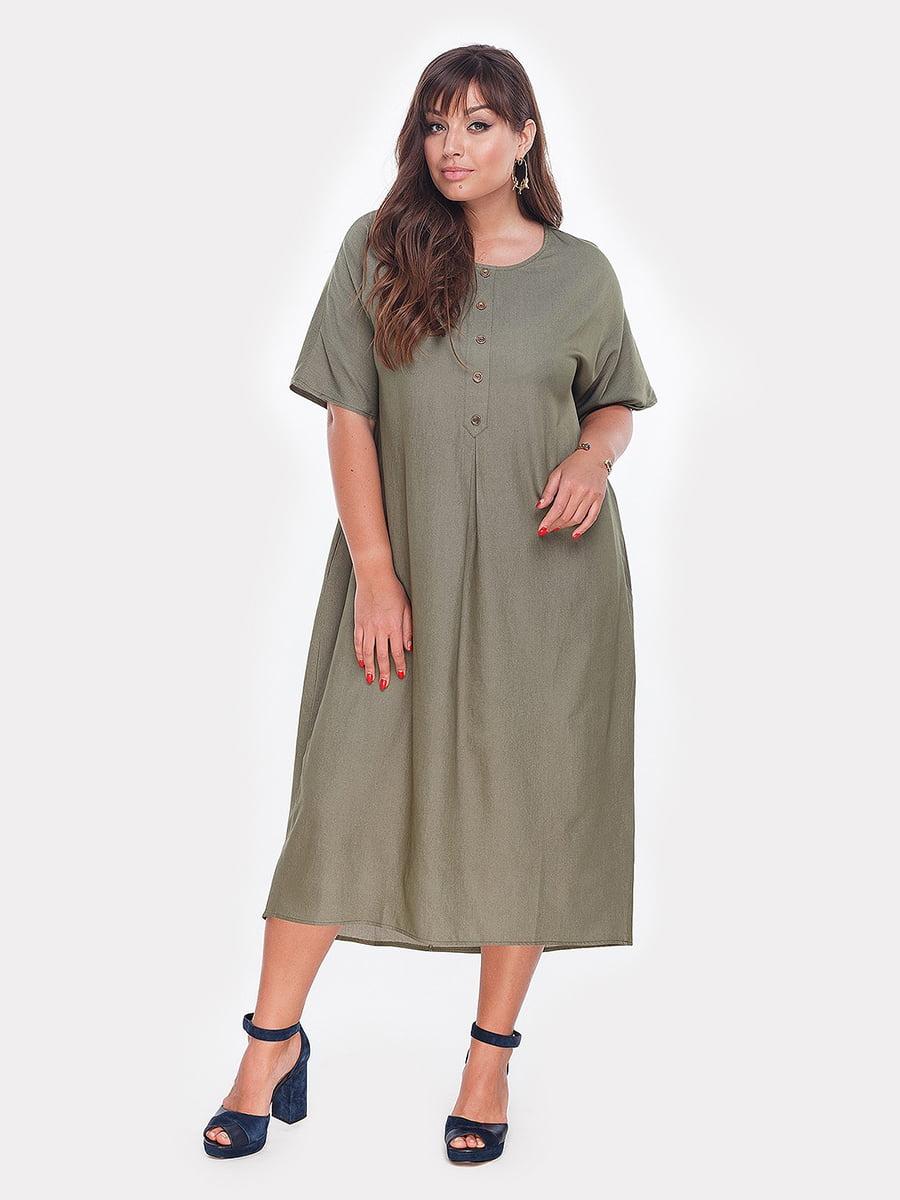 Платье цвета хаки | 5105111