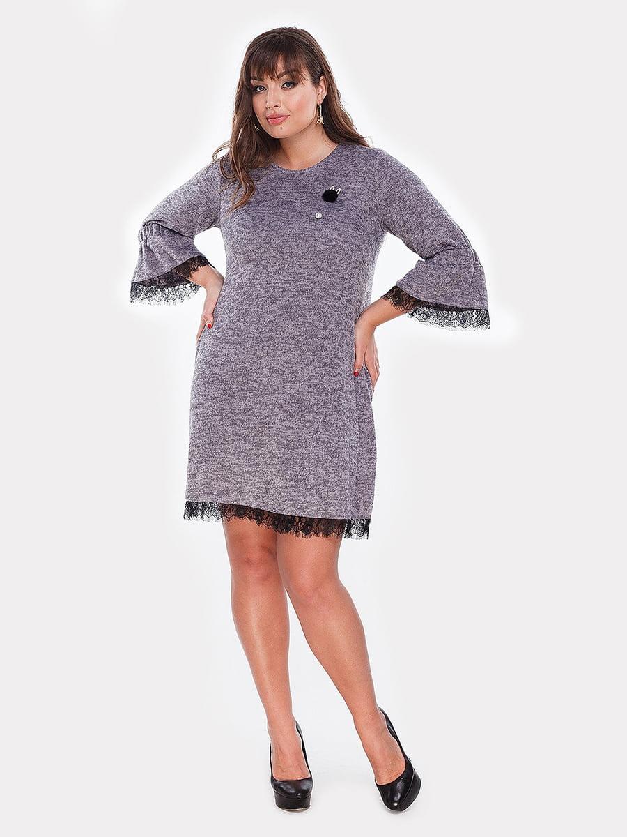 Платье серо-сиреневое | 5105114