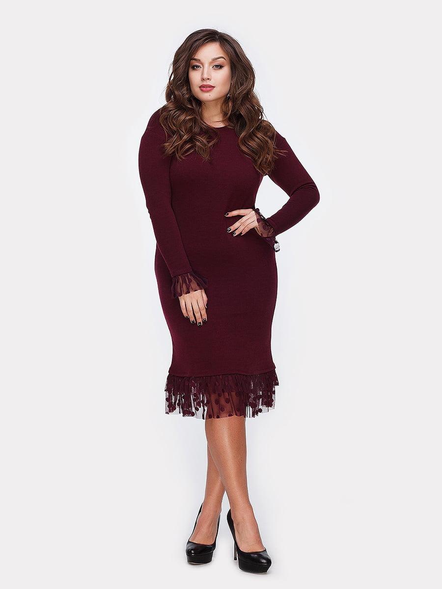 Платье бордовое | 5105122